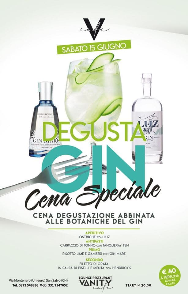 Cena Speciale DeGusta Gin
